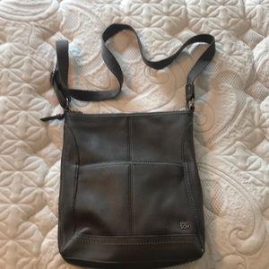 The Sak gray leather crossbody
